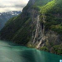 Seven Sisters Waterfall, Norway svg #15, Download drawings