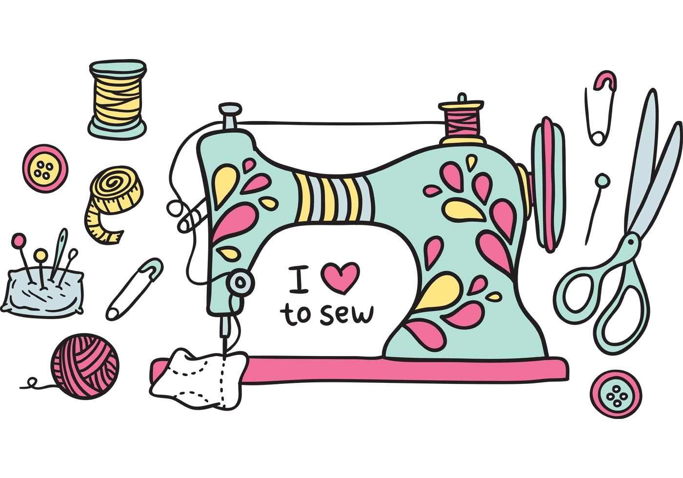 Sewing Machine clipart #2, Download drawings