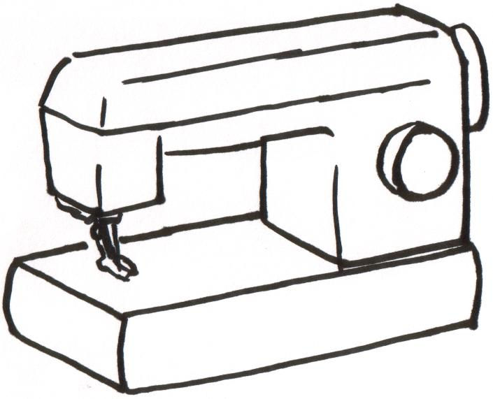 Sewing Machine Coloring Download Sewing Machine Coloring