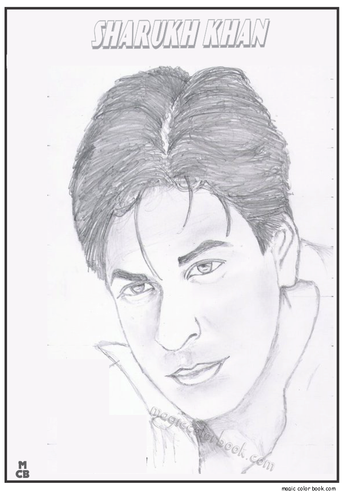Shahrukh coloring #4, Download drawings