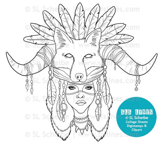 Shaman coloring #19, Download drawings