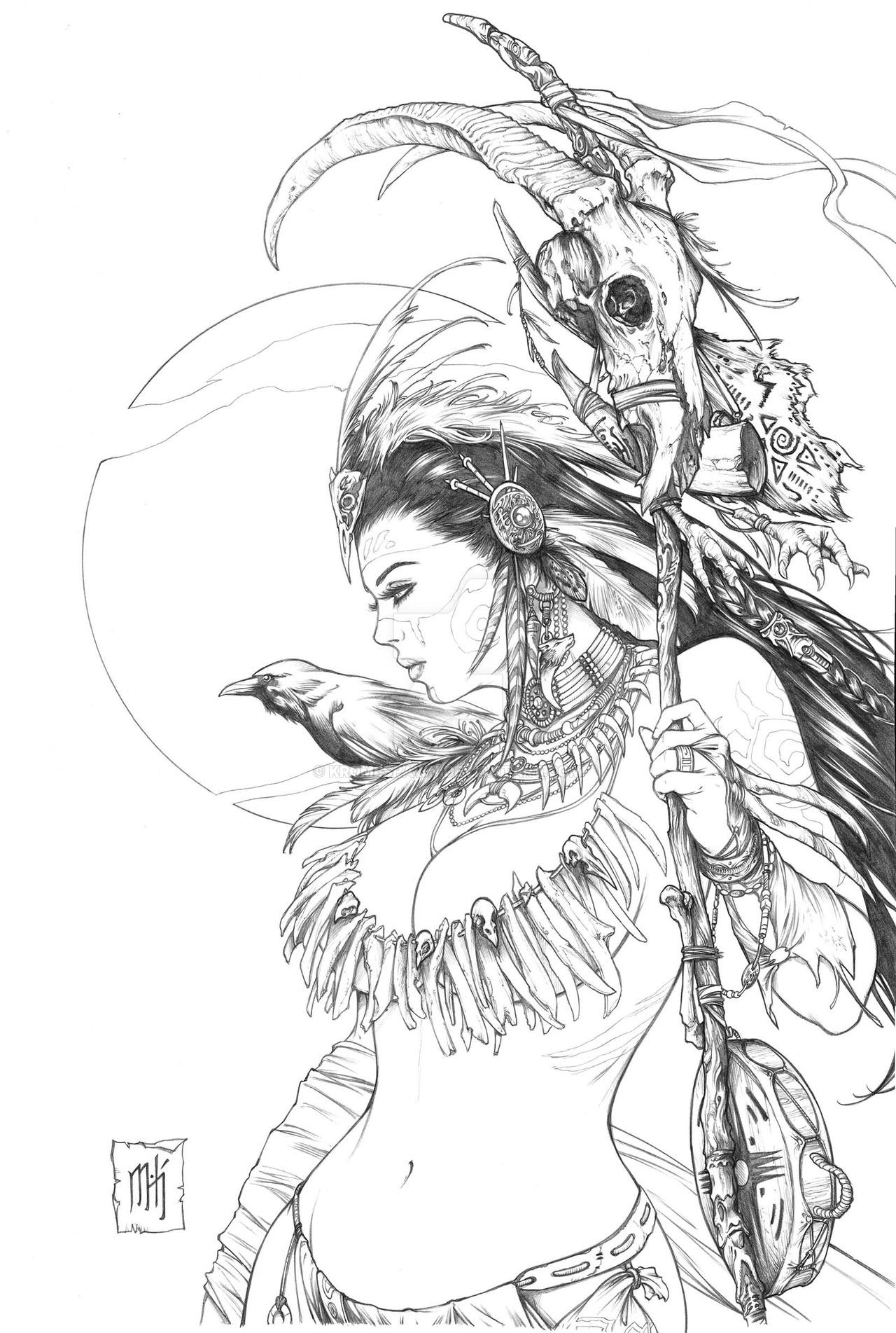 Shaman coloring #14, Download drawings
