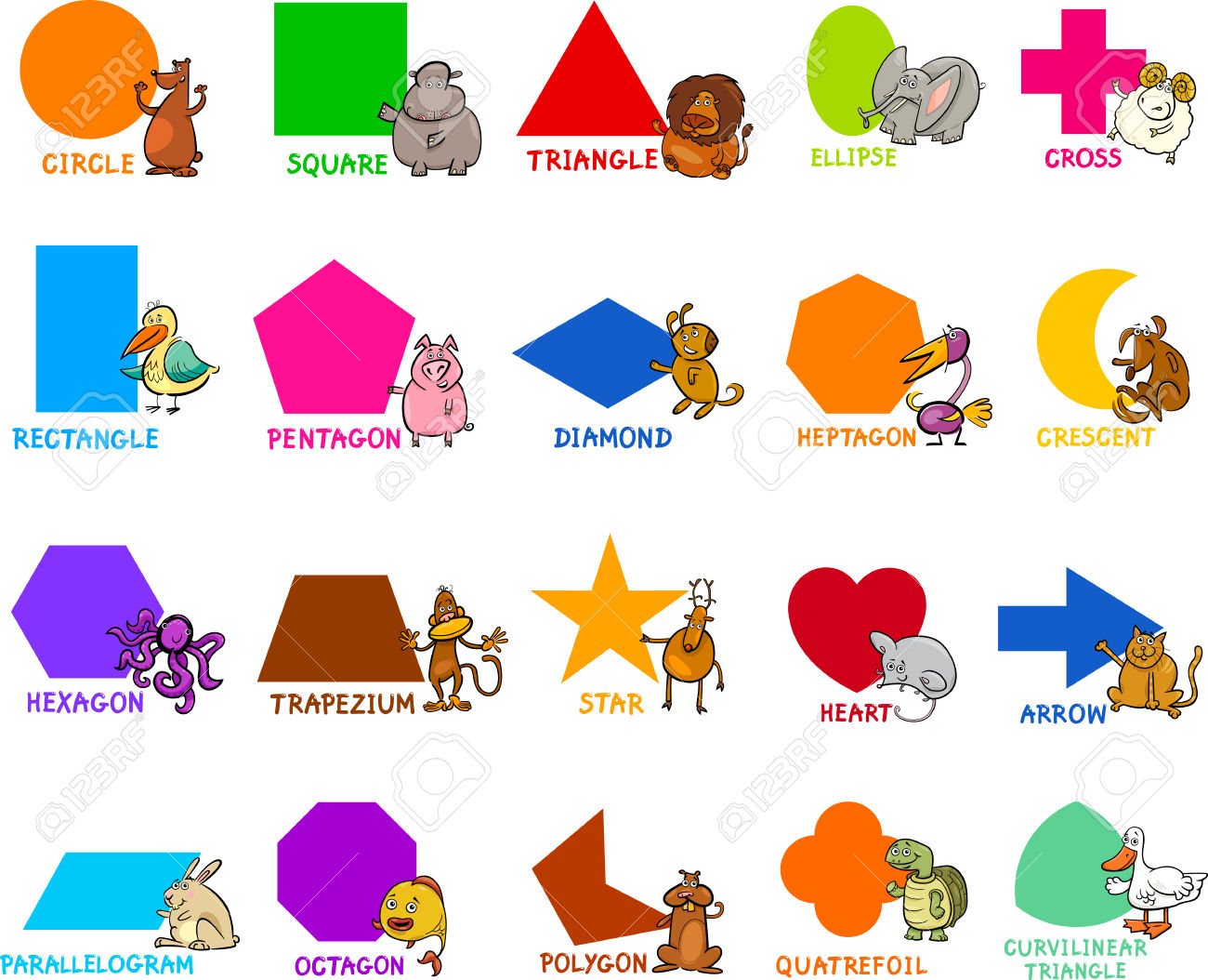 Shapes clipart #3, Download drawings