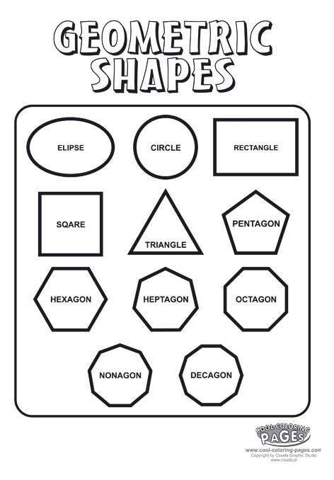 Shapes coloring download shapes coloring for Geometric shapes coloring pages