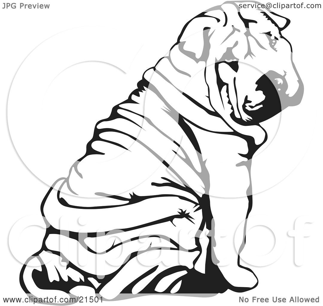 Shar Pei clipart #14, Download drawings