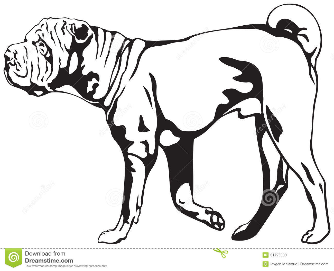Sharpei clipart #13, Download drawings
