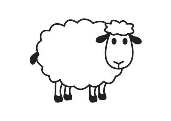 Sheep coloring #14, Download drawings