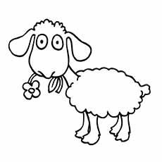 Sheep coloring #6, Download drawings