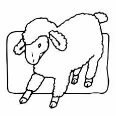 Sheep coloring #5, Download drawings