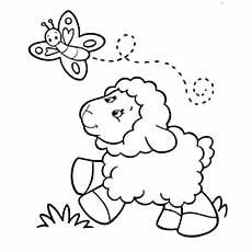 Sheep coloring #4, Download drawings