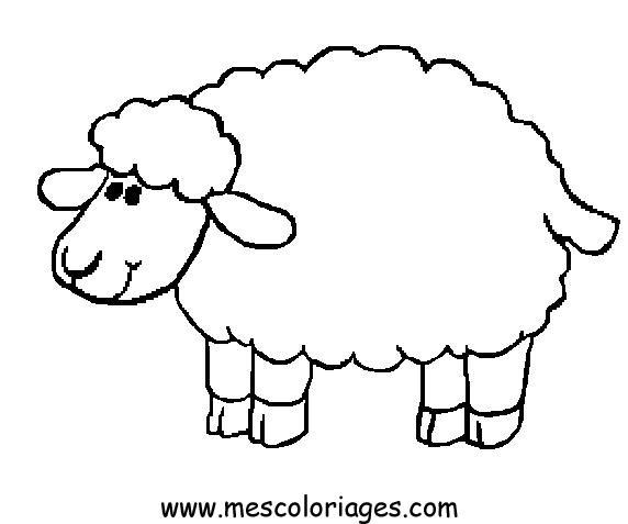 Sheep coloring #8, Download drawings