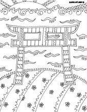 Shinto coloring #14, Download drawings