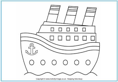 Ship coloring #7, Download drawings