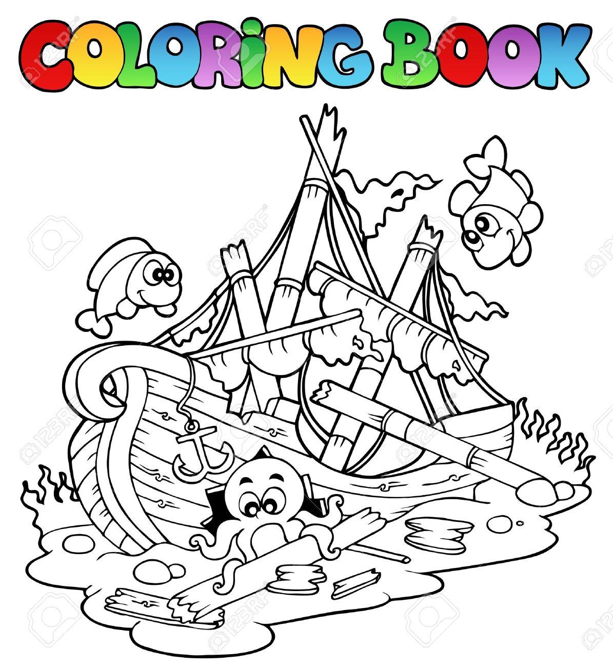 Shipwreck coloring #17, Download drawings