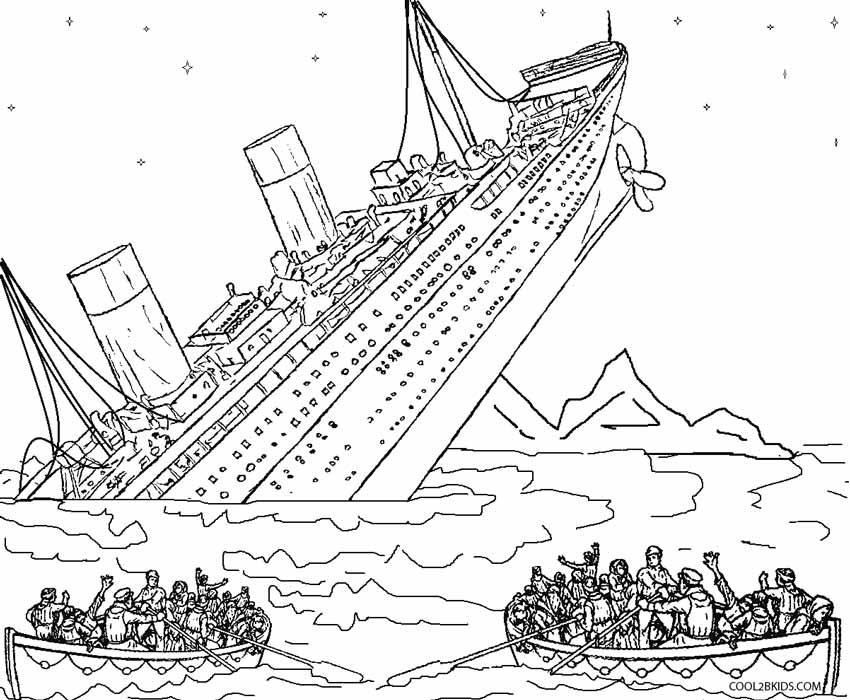 Shipwreck coloring #14, Download drawings