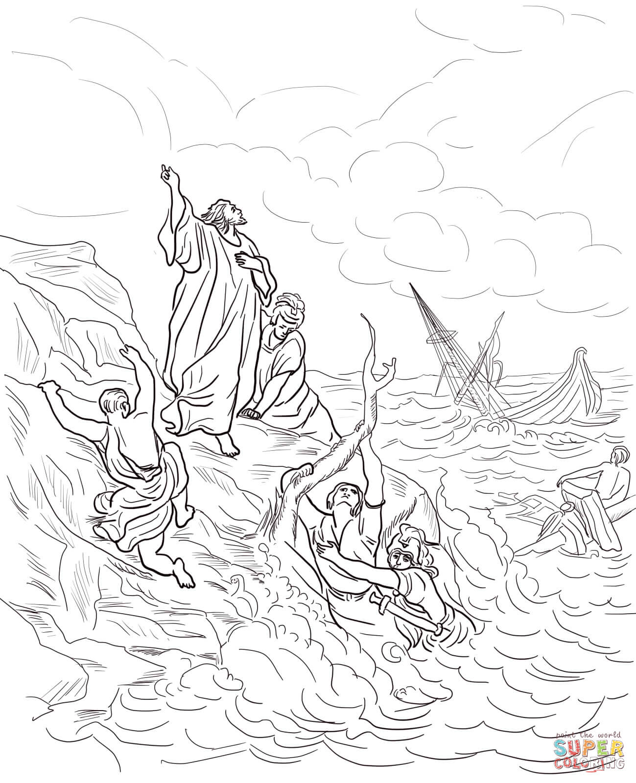 Shipwreck coloring #2, Download drawings