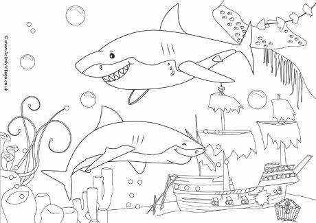 Shipwreck coloring #5, Download drawings
