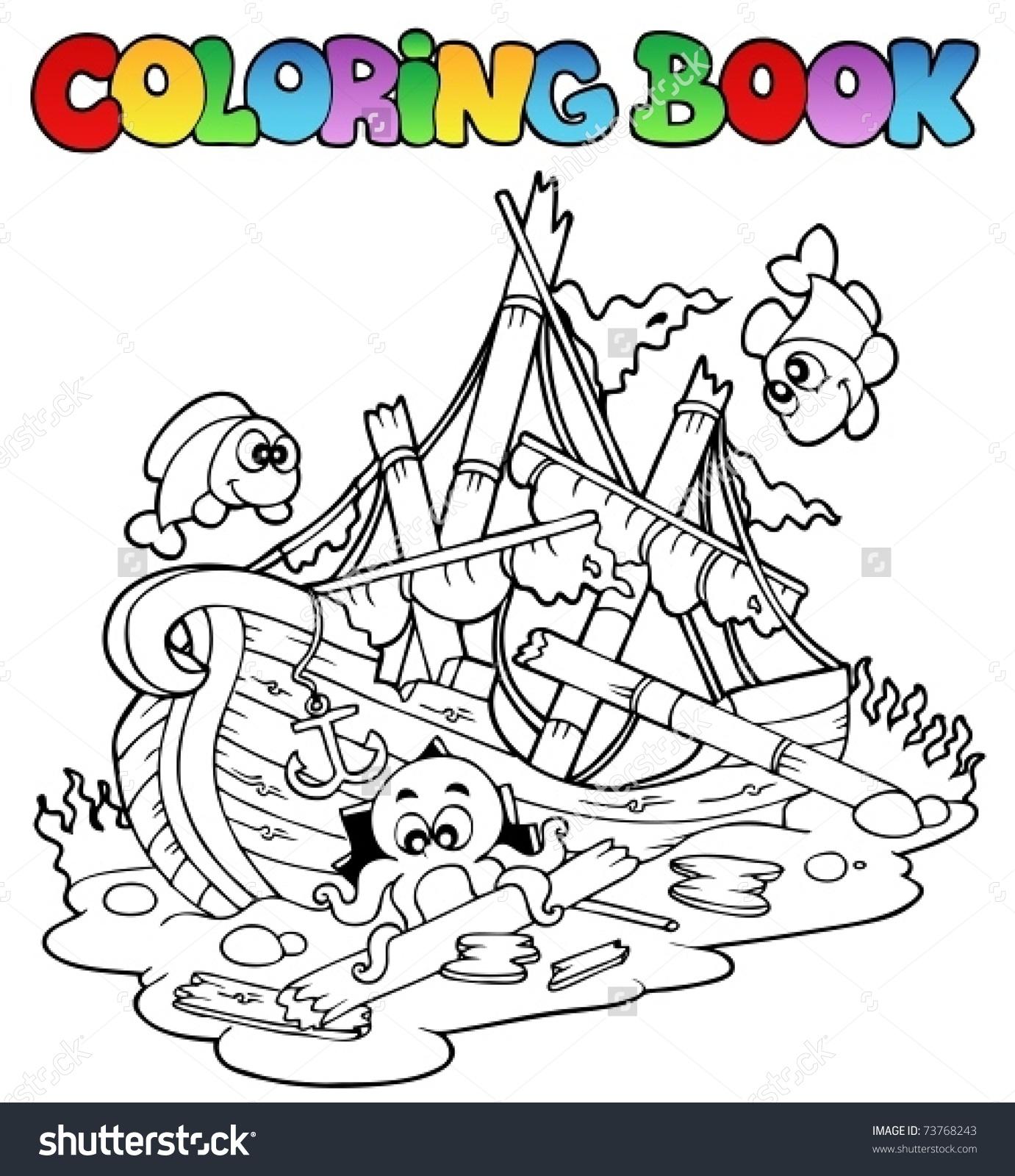 Shipwreck coloring #4, Download drawings