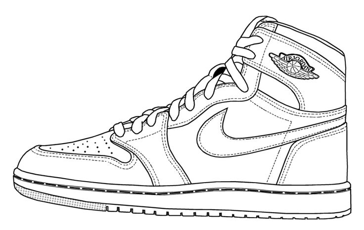 Sneakers coloring #17, Download drawings