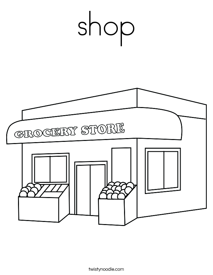 Shop coloring #19, Download drawings