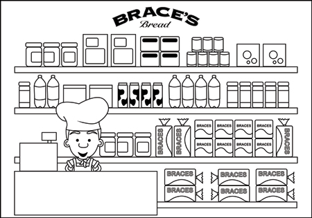 Shop coloring #4, Download drawings