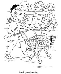 Shop coloring #10, Download drawings