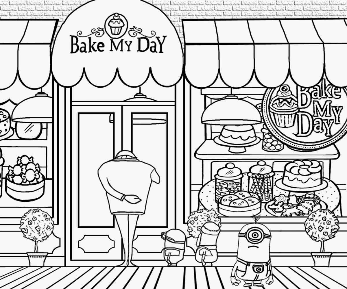 Shop coloring #13, Download drawings