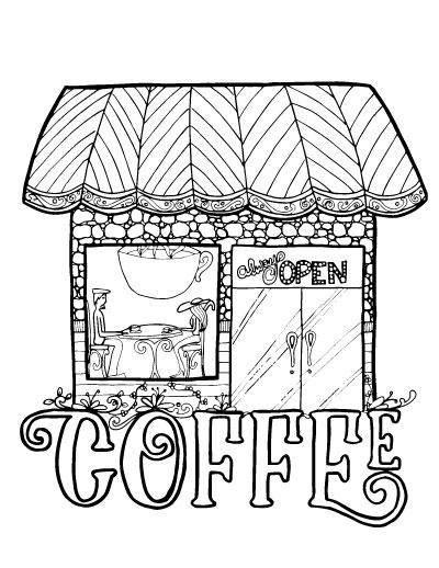 Shop coloring #2, Download drawings