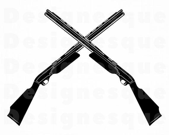 shotgun svg #572, Download drawings