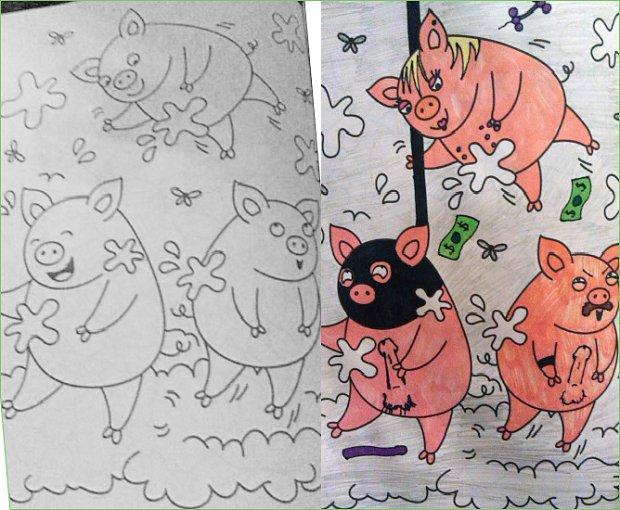 Shrine coloring #4, Download drawings