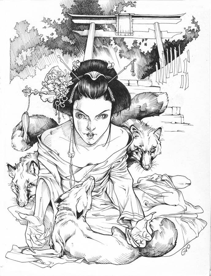 Shrine coloring #3, Download drawings