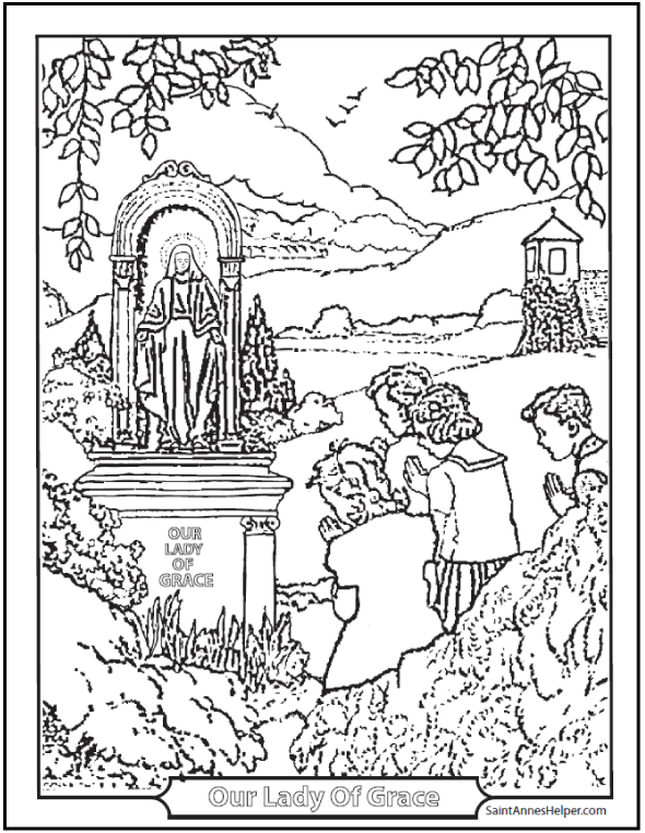 Shrine coloring #17, Download drawings