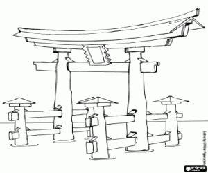 Shrine coloring #12, Download drawings