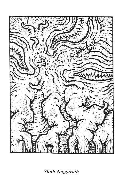 Shub-niggurath coloring #16, Download drawings