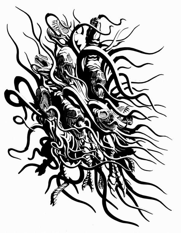 Shub-niggurath coloring #11, Download drawings