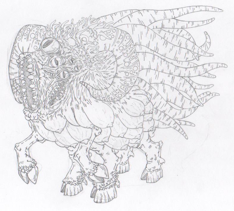 Shub-niggurath coloring #3, Download drawings