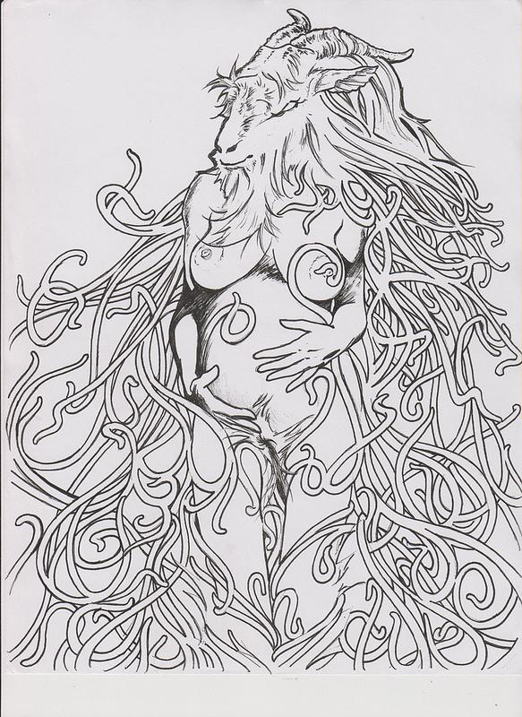 Shub-niggurath coloring #2, Download drawings