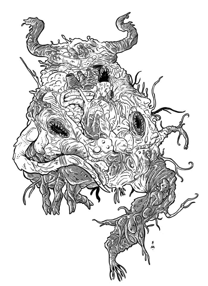 Shub-niggurath coloring #17, Download drawings