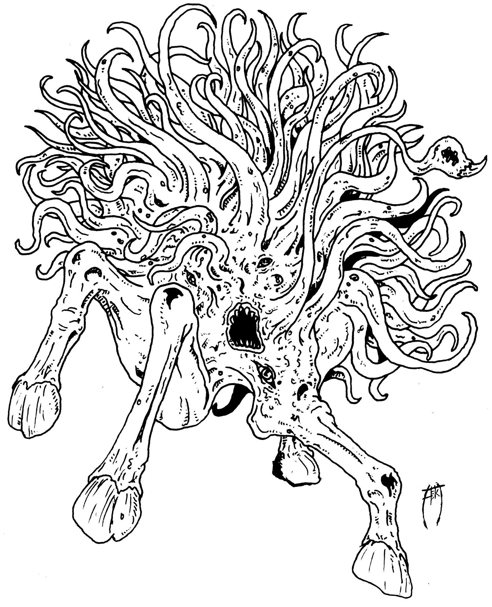 Shub-niggurath coloring #7, Download drawings