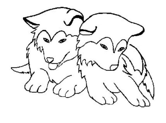 Siberian Husky coloring #13, Download drawings