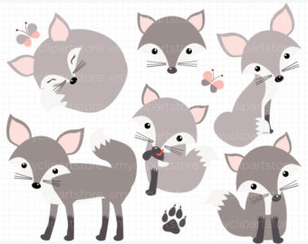 Silver Fox clipart #5, Download drawings
