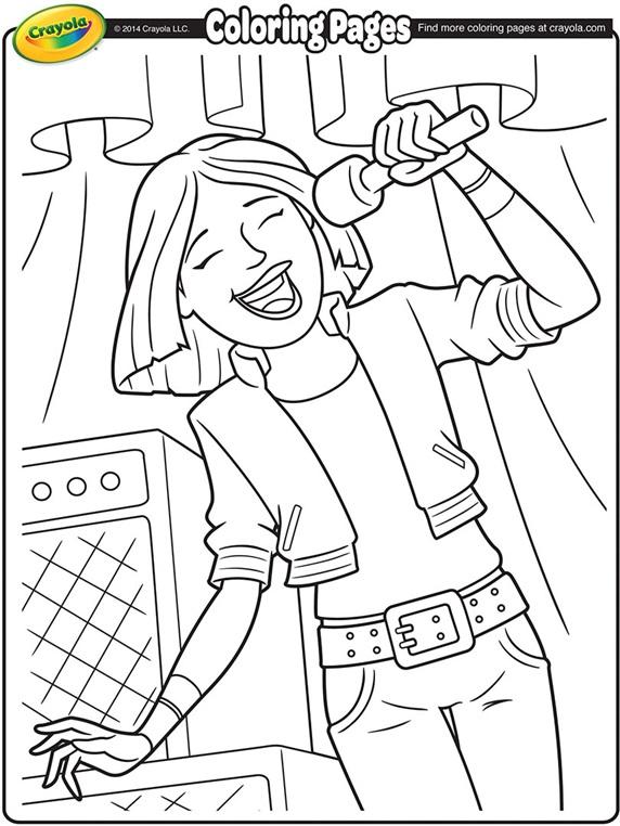 Singer coloring #5, Download drawings