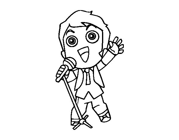 Singer coloring #14, Download drawings