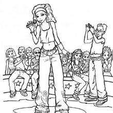 Singer coloring #1, Download drawings