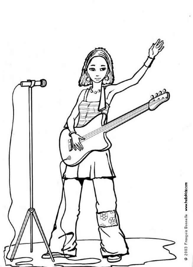 Singer coloring #12, Download drawings