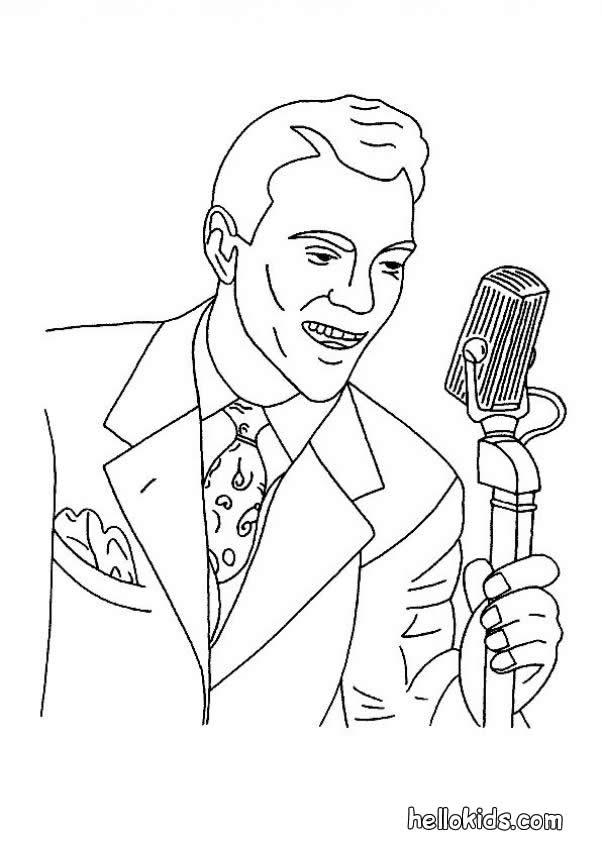 Singer coloring #10, Download drawings
