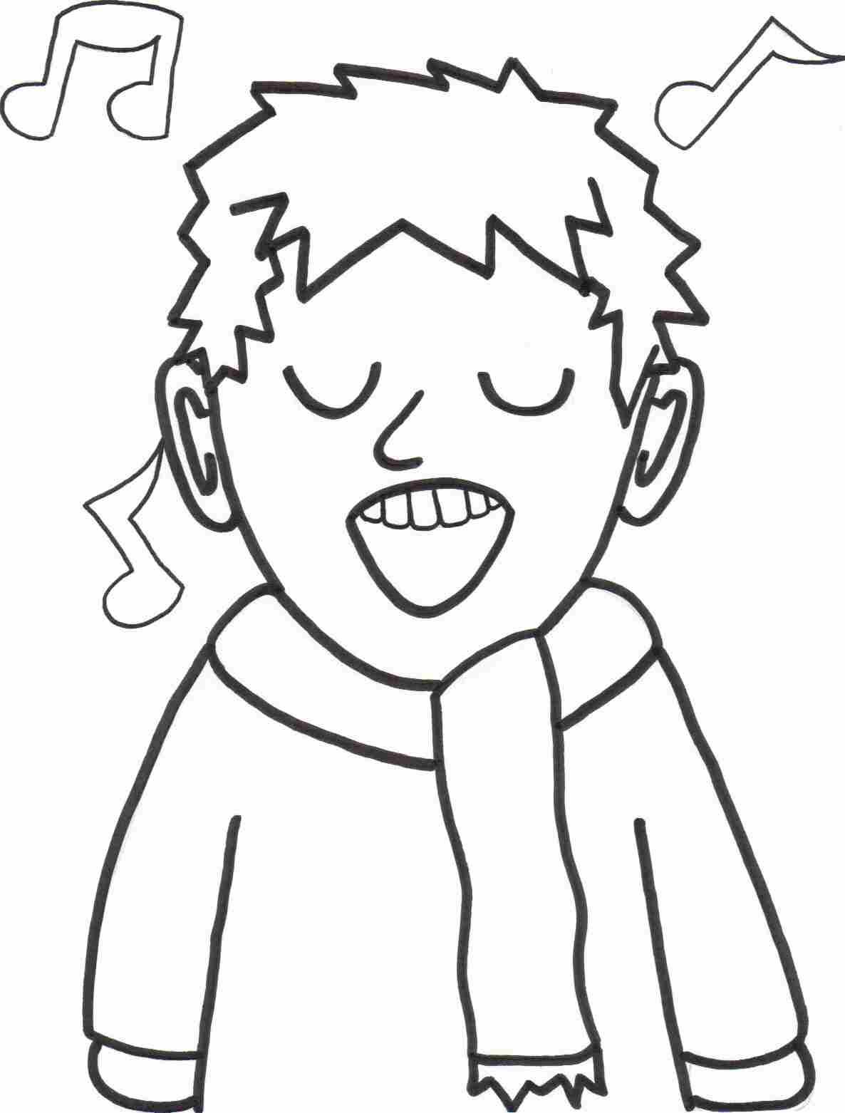 Singer coloring #18, Download drawings