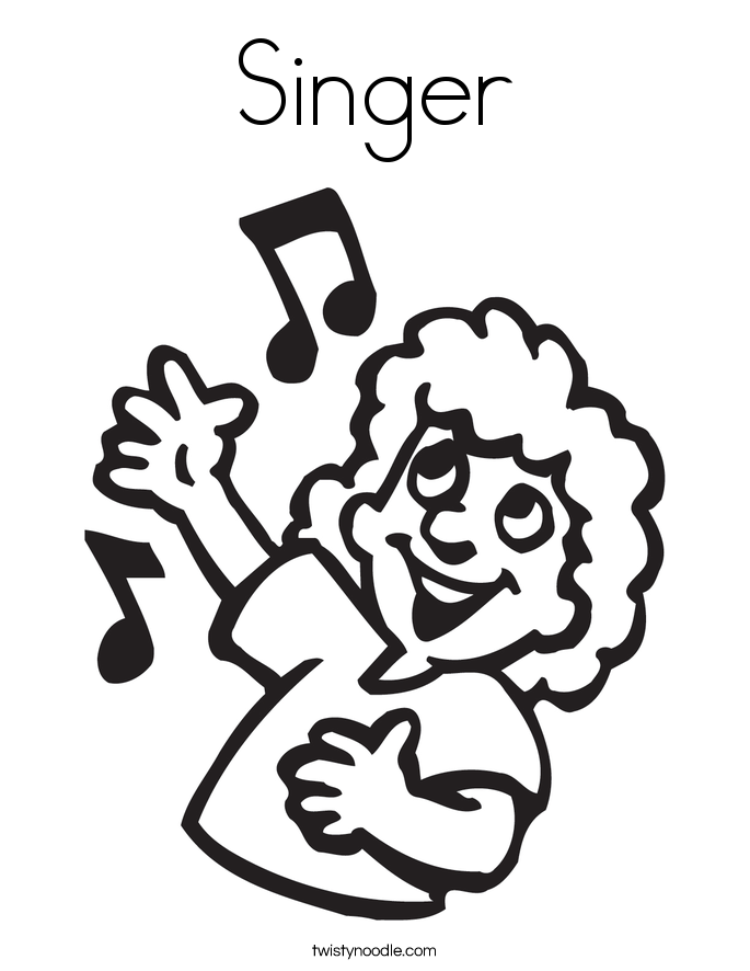 Singer coloring #20, Download drawings