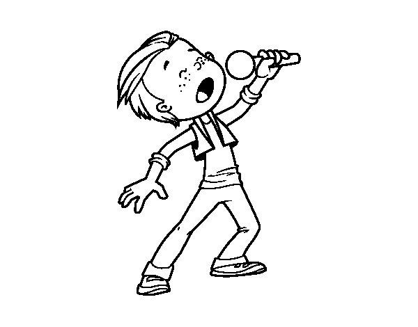 Singer coloring #4, Download drawings