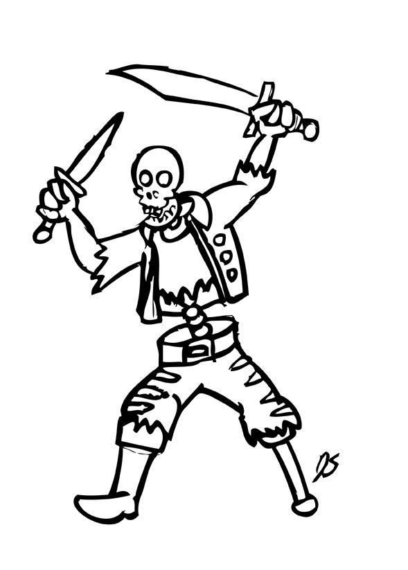 Sleleton coloring #20, Download drawings